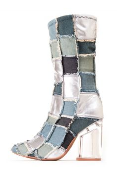 1bea2f5a5a9 Jeffrey Campbell Shoes TRULY-MDLH Boots in Blue Dnm Slvr Clr Combo