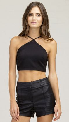 Y String Front Crop Top