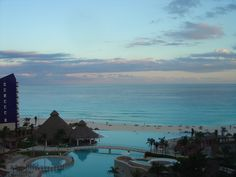 The Westin Lagunamar resort in Cancun Mexico.  Every room has a great view.  This photo taken from our balcony overlooking the pool and the beautiful Caribbean.