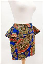 Joyce Versace Print Skirt