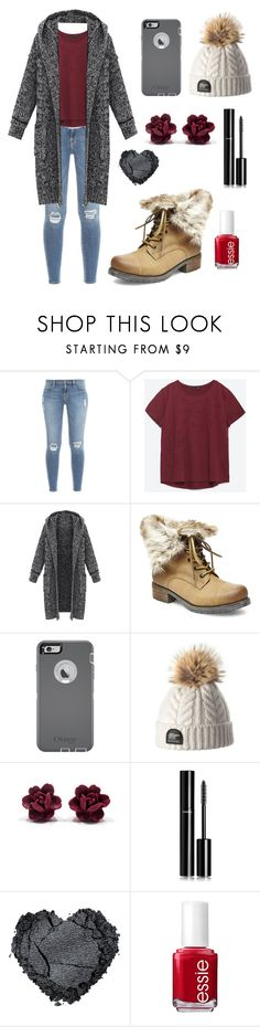 """""""Piper McLean(Winter Day)-A"""" by fandom-fashion7 ❤ liked on Polyvore featuring Frame Denim, Zara, Steve Madden, OtterBox, Chanel, Essie, women's clothing, women's fashion, women and female"""