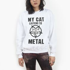 My Cat Listens To Metal Sweatshirt