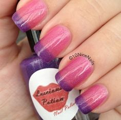 Luscious Potion:  BLOOMING DREAMS.  Thermal nail polish.   Hypercolor.