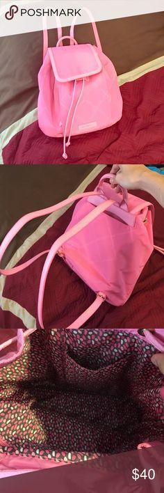 Selling this Vera Bradley Preppy Poly Drawstring Backpack on Poshmark! My username is: emily3366. #shopmycloset #poshmark #fashion #shopping #style #forsale #Vera Bradley #Handbags