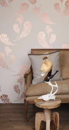 20 Wallpapers with Metallic Accent Snow Copper Metallic by Michele Varian
