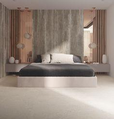 N 93 / Type travertino / Geo Gris Living Room Partition Design, Room Partition Designs, Modern Luxury Bedroom, Luxurious Bedrooms, Bedroom Furniture, Bedroom Decor, Bedroom Closet Design, Small House Design, Surface