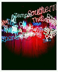 Phoneography DIY tip:  Sometimes heavy vignetting can work well to frame a photo's subject, like the bright, neon lights in this Android pic.  By Flickr snapper TheBohemianBlossom using the Vignette app.  via Flickr