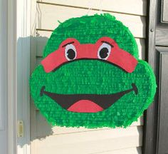 Teenage Mutant Ninja Turtle Custom Pinata from Pinatas Plus - custom made pinatas for any occasion! TO ORDER EMAIL PINATASPLUS@GMAIL.COM