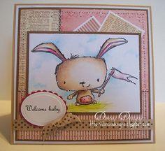 Dorcas Perkins - Poppy Welcome Baby Card