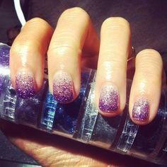 violet glitter gradient - love!