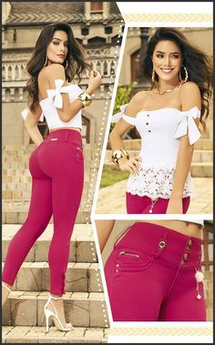 Tejido 100 % Colombiano Jean Colombiano Levanta Cola Original K678 Curvy Girl Outfits, Retro Outfits, Casual Outfits, Cute Outfits, Lace Jeans, Sexy Jeans, Girl Fashion, Fashion Outfits, Bollywood Girls