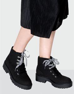 Pull&Bear - mujer - calzado - botas y botines - botín doble cordón - negro - 11015211-I2016