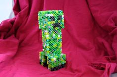 Items similar to Minecraft: Creeper Painting Perler Wall Decoration on Etsy