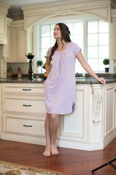 TexereSilk - Slumberous Cap Sleeve Short Nightgown Caps For Women 40be5d107