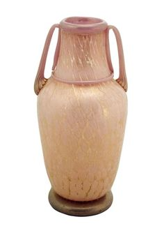Vintage Murano Glass Vase - Soft Pink Murrine/Black/24K Gold by Casa Di Francesca on @HauteLook