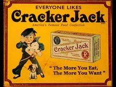 when prizes were something ~j Vintage Advertising from Cracker Jack! History Of Popcorn, Old Commercials, Cracker Jacks, Vintage Candy, Vintage Signs, Vintage Stuff, Vintage Toys, Vintage Labels, Vintage Ephemera
