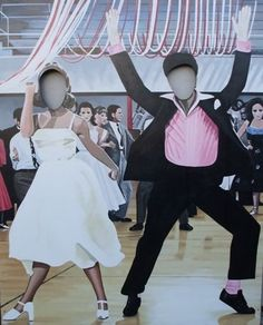 Grease cut outs Grease Themed Parties, 50s Theme Parties, Grease Party, Grad Parties, Party Themes, Party Ideas, 50s Party Decorations, Prom Decor, Fifties Party