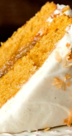 Pumpkin Layer Cake with Orange Ginger Filling and Cinnamon Cream Cheese Frosting ~ incredibly easy and absolutely delicious cake for the fall gatherings and holidays!
