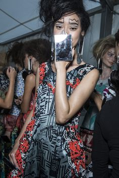 Check Louise Gray's SS13 backstage snaps as seen in the Topshop Showspace. #TOPSHOP #LFW #SS13 #LOUISEGRAY