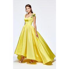 c90c9f2347fac Tarik Ediz 93141 Ball Gown Long Short Sleeve ( 740) ❤ liked on Polyvore  featuring