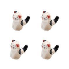 Set Von 4 Japanischen Keramik Lucky Cat Shaped Stäbchen Löffel Gabeln Halter M - http://besteckkaufen.com/blancho/set-von-4-japanischen-keramik-lucky-cat-shaped-st-l-9