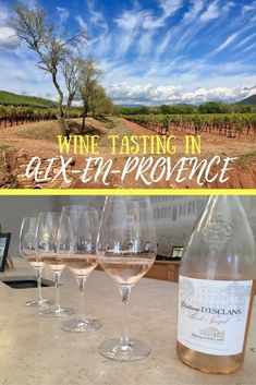Rose all day! A visit to the French Riviera isn't complete without touring the wineries in Provence! Tips from the wine tour we took, which wineries we visited in Aix-en-Provence. #wineries #provence #france #frenchriviera