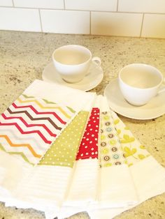 These are done with bar towels but you could do the same thing with tea towels