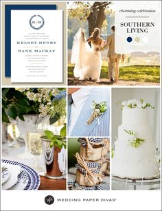 Wedding Paper Divas and Southern Living have partnered to bring you a beautiful southern wedding stationery collection on the Wedding Paper Divas blog #wedding