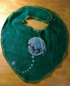 Moon Fairies Upcycled Terry BIB by allearthlings on Etsy