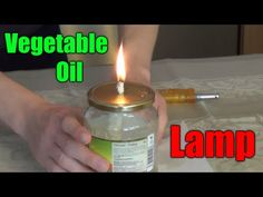 How to make a VEGETABLE OIL LAMP - YouTube
