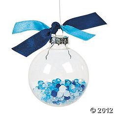 Design Your Own Clear Round Ornaments - Oriental Trading