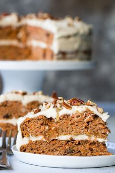"Paleo Carrot Cake with Coconut ""Cream Cheese"" Frosting 