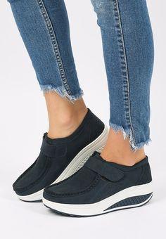 Mocasini piele naturala Justina 2 Navy Smart Casual, Slip On, Sneakers, Shoes, Fashion, Clothing, Tennis, Moda, Slippers
