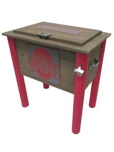 Ohio State Buckeyes All Wood Vintage Collegiate Cooler