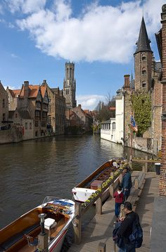 Canal with Towers, Bruges, Belgium by Dmitry Shakin, via Flickr