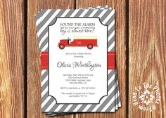 Fire truck/Firefighter Baby Shower by FromHeadtoToeDesigns on Etsy