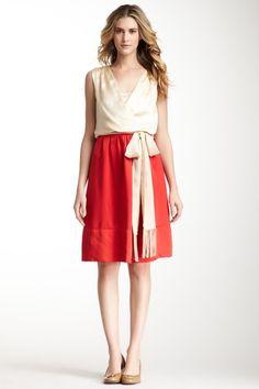 Tory Burch  Darya Belted Contrast Dress