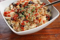 Creamy, flavorful, mexican-style chicken, quinoa & black beans... made in the slow cooker. How's that for a perfect, easy & healthy winter meal? If, like me and almost everyone else in the...