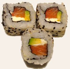 Philly Sushi Roll. One of my all time favorites EVER.  I am going to make these for my kids soon. :)
