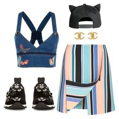 """Untitled #177"" by kimdillinger on Polyvore featuring Opening Ceremony, Fendi, Valentino and Chanel"