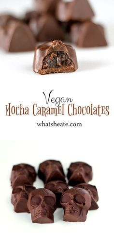 Vegan Mocha Caramel Chocolates #vegan #glutenfree #recipe