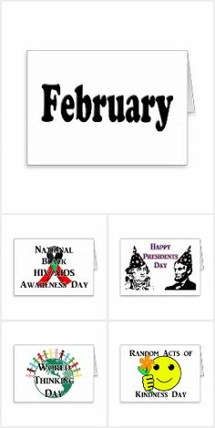 February Holidays - Popular & lesser known events that occur during the month of February . #todaysEvent #Gravityx9 #Zazzle