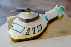 Dort letadlo, vrtulník. Helicopter cake