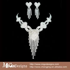 2014 Women New Fashion White Gold Plated Heart Aferican Wedding Jewelry Set