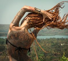 Dreads and a beautiful back piece. Two of my favorite things.