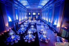 Amazing setup at this #blue #uplighting #wedding #reception! #diy #diywedding #weddingideas #weddinginspiration #ideas #inspiration #rentmywedding #celebration #wedding #reception #party #wedding #planner #event #planning #dreamwedding by @mitchwed