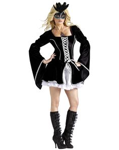 halloween masquerade costumes | ... Costumes / Sexy Halloween Costumes / Midnight Masquerade Adult Womens
