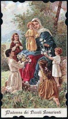 Holy Cards for Children: Blessed Mother: Mother Of Christ, Blessed Mother Mary, Blessed Virgin Mary, Catholic Pictures, Jesus Pictures, Christian Images, Christian Art, Catholic Art, Catholic Saints