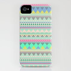 Pastel Aztec iPhone cover