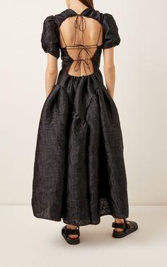 Cecilie Bahnsen Katrine Open-Back Matelassé Dress High Fashion Makeup, Runway Fashion, Womens Fashion, Tumblr Fashion, Mode Inspiration, Fashion Details, Dress Up, Cold Shoulder Dress, Women Wear